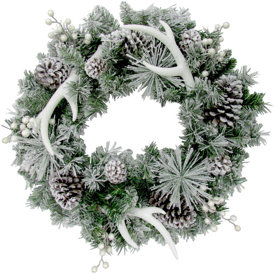 Fraser Hill Farm 24 In Multi Christmas Mixed Needle Artificial Christmas Wreath In The Artificial Christmas Wreaths Department At Lowes Com