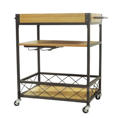 Benzara Brown Industrial Kitchen Cart at Lowes.com