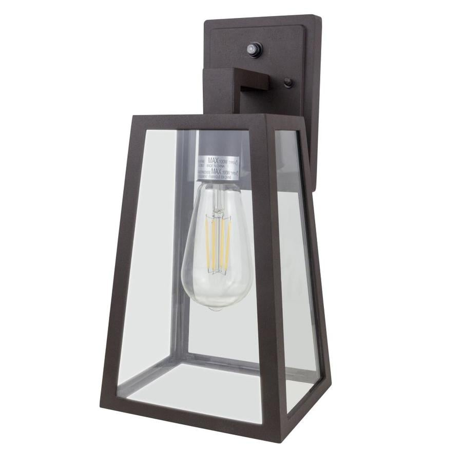 Spitzer 13 5 In H Brown Electrical Outlet Medium Base E 26 Outdoor Wall Light In The Outdoor Wall Lights Department At Lowes Com