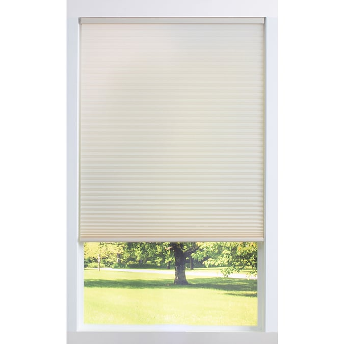 Allen Roth 71 5 In X 60 In Alabaster Light Filtering Cordless Cellular Shade In The Window Shades Department At Lowes Com