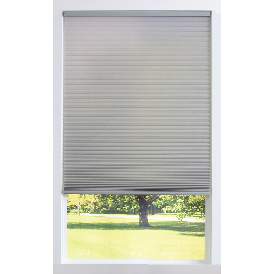 Allen Roth 69 In X 60 In Gray Light Filtering Cordless Cellular Shade In The Window Shades Department At Lowes Com
