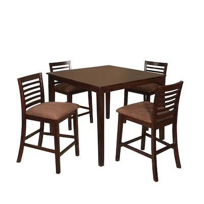 Furniture of America Eaton Espresso Dining Set with Table at ...