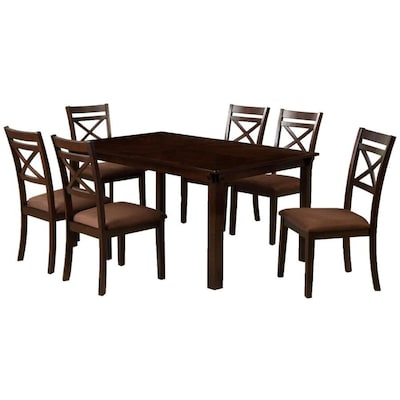 Pleasing Furniture Of America Weston Espresso Dining Set With Beatyapartments Chair Design Images Beatyapartmentscom