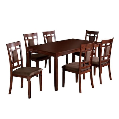 Montclair Dark Cherry Dining Set With Rectangular Table