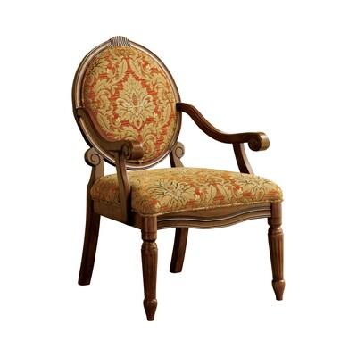 Admirable Hammond Victorian Antique Oak Linen Accent Chair Theyellowbook Wood Chair Design Ideas Theyellowbookinfo