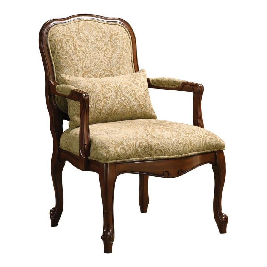 America Accent Chairs.Furniture Of America Waterville Victorian Dark Cherry Linen Accent
