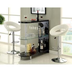 Furniture Of America Numbi 42 In X 41 Black Oval Mini Bar