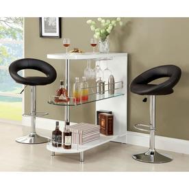 Furniture Of America Numbi 42 In X 41 White Oval Mini Bar