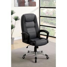 Furniture Of America Ayr Black/Gray Contemporary Desk Chair
