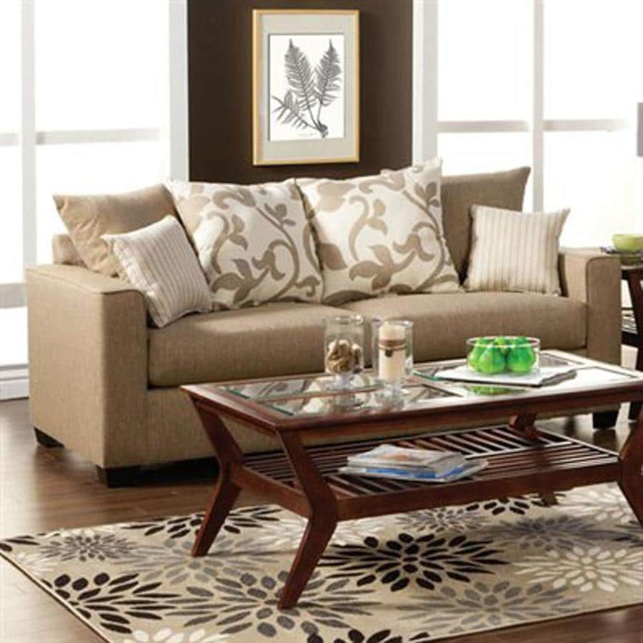 Furniture Of America Colebrook Casual Sandstone Chenille Sofa In The Couches Sofas Loveseats Department At Lowes Com