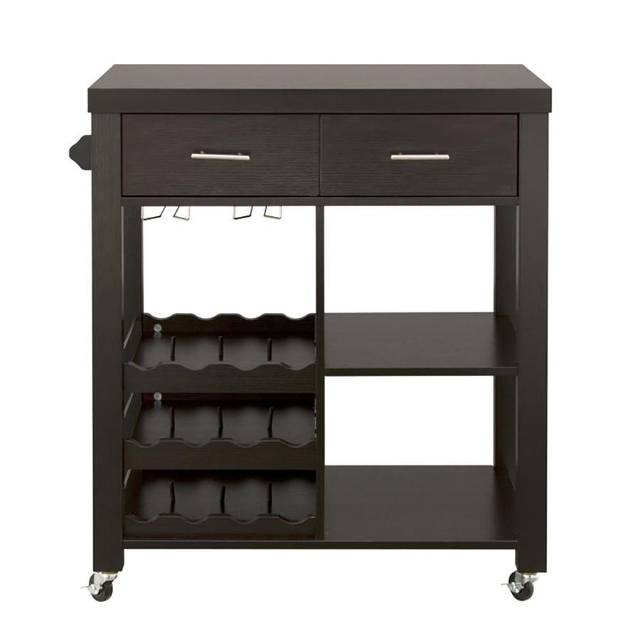 Furniture Of America Brown Missionshaker Kitchen Cart With At Lowescom