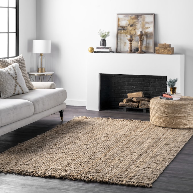 Nuloom 8 X 8 Natural Square Indoor Solid Handcrafted Area Rug In The Rugs Department At Lowes Com
