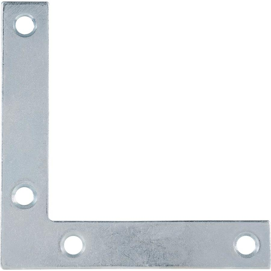 Hillman 5-Pack 3-1/2-in Zinc Corner Braces