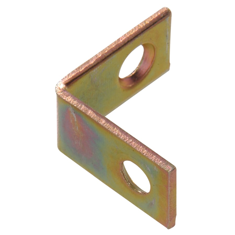 Hillman 20-Pack 1-1/2-in Zinc and Yellow Dichromate Corner Braces