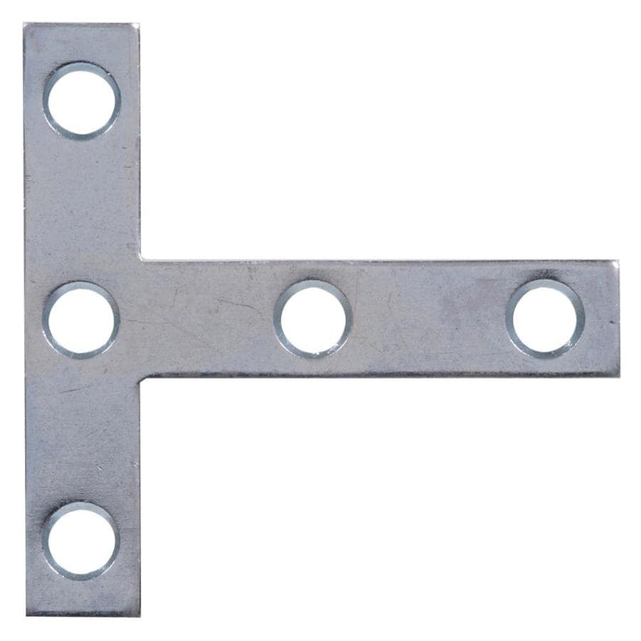The Hillman Group 5-Pack 2.5-in x 2.5-in Zinc-Plated Flat Braces