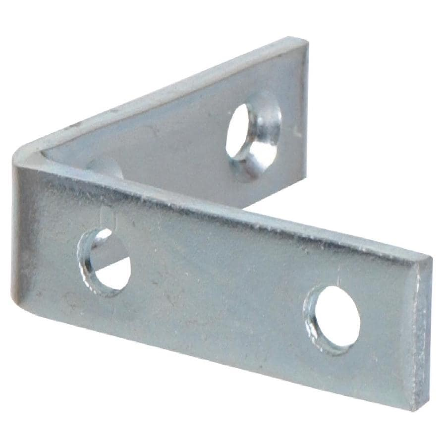 Hillman 20-Pack 1-1/2-in Zinc Corner Braces
