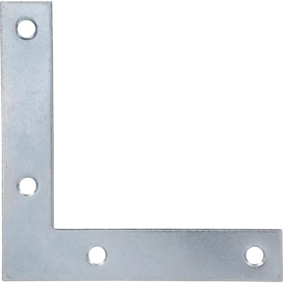 Hillman 20-Pack 4-in Zinc Corner Braces