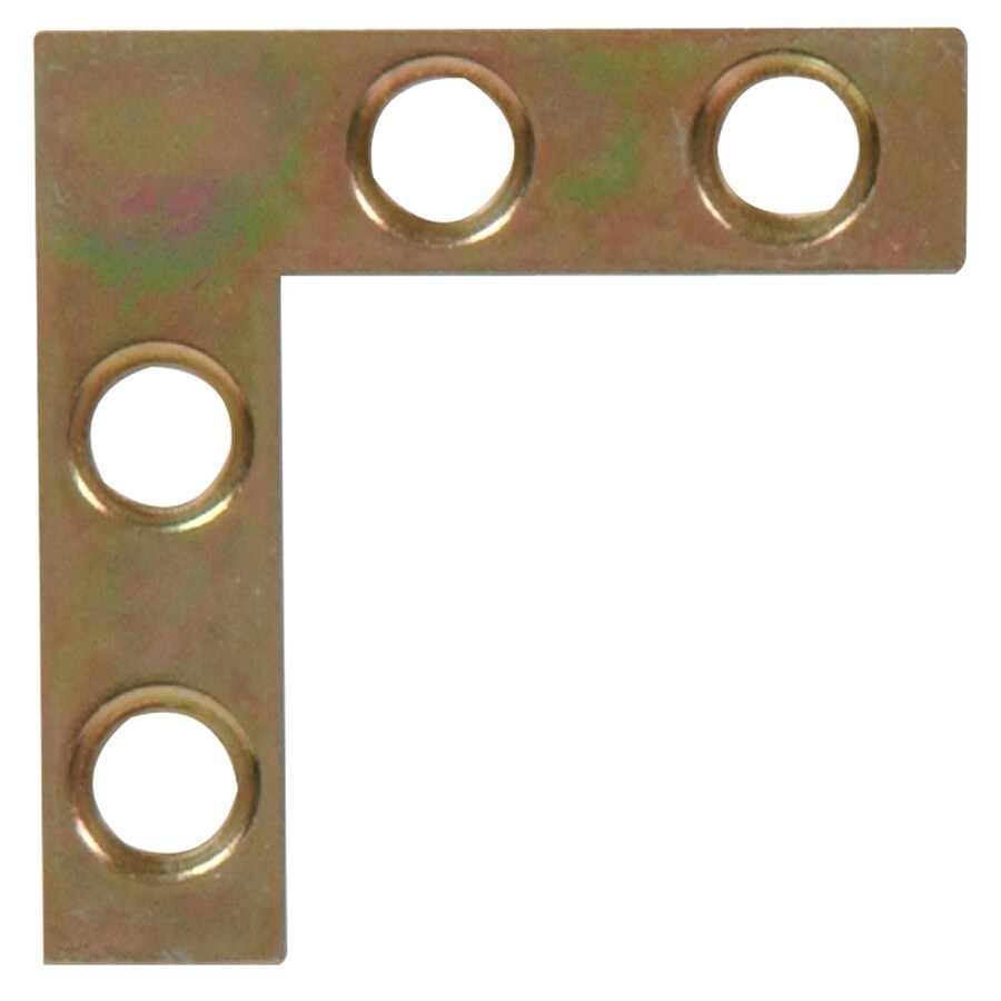 The Hillman Group 20-Pack 1-1/2-in Zinc and Yellow Dichromate Corner Braces