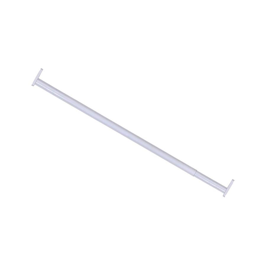 Hillman 120-in L x 1-in H x 1-in W Extendable White Metal Closet Rod with Hardware