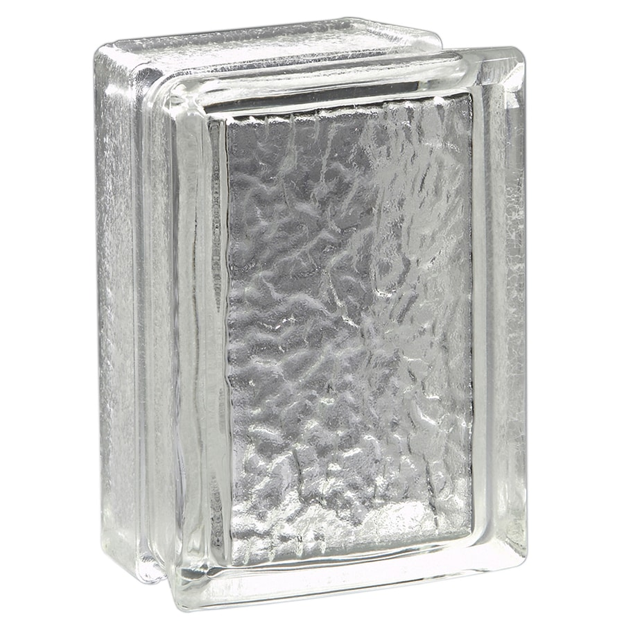 Pittsburgh Corning Arque Icescapes Blocks Premiere 4-Pack Glass Blocks (Common: 8-in H x 6-in W x 4-in D; Actual: 7.75-in H x 5.75-in W x 3.87-in D)