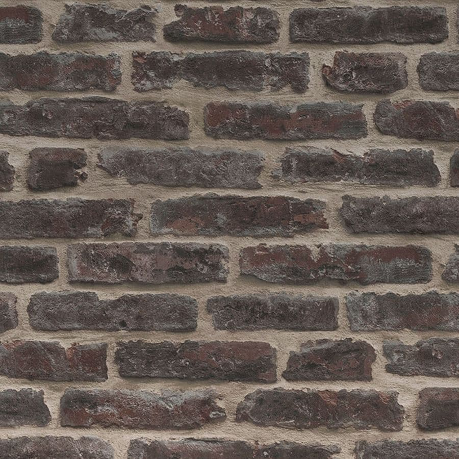 Graham Brown Strata 56 Sq Ft Rouge Vinyl Textured Brick Wallpaper
