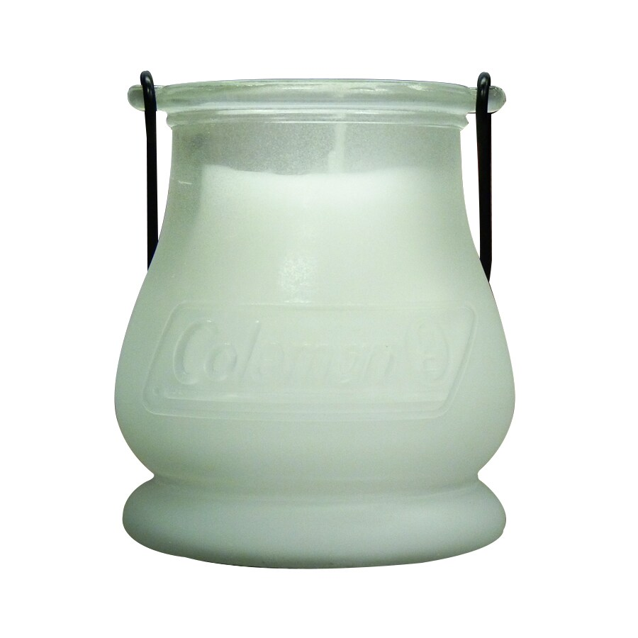 Coleman 1-Wick Frosted White Glass Tabletop Citronella Candle