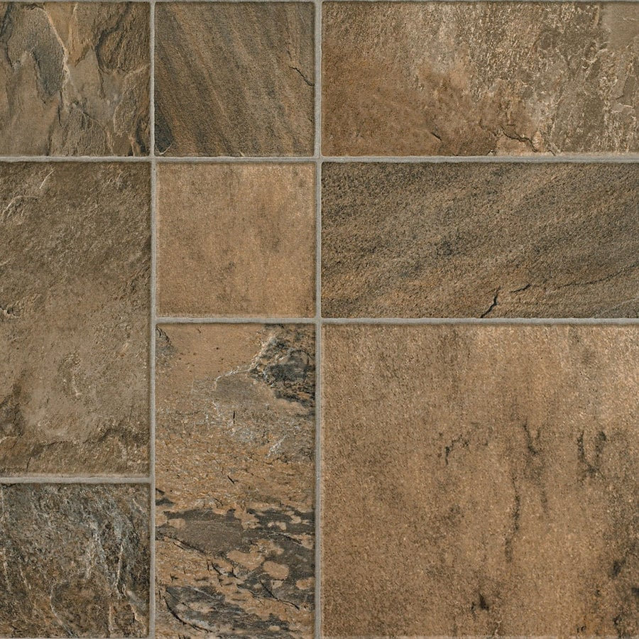 SwiftLock 15.63 In W X 4.23 Ft L Desert Slate Baked Earth Tile Look