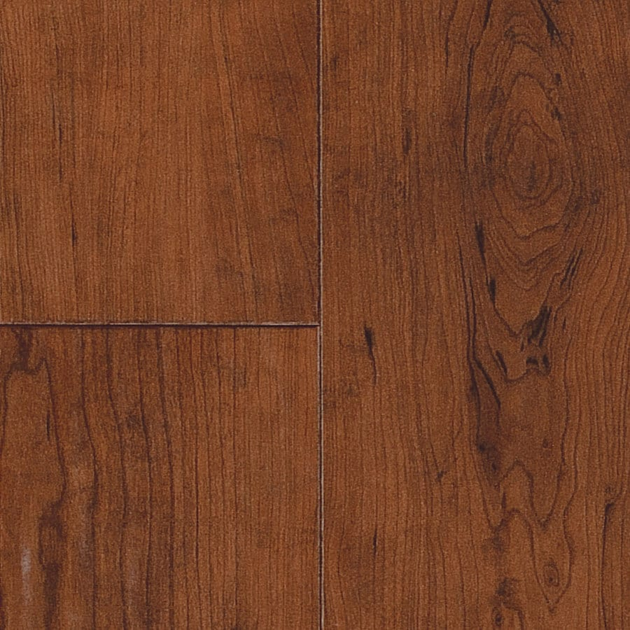 SwiftLock 5.28-in W x 4.21-ft L Rustic Cherry Leather Wood Plank Laminate Flooring