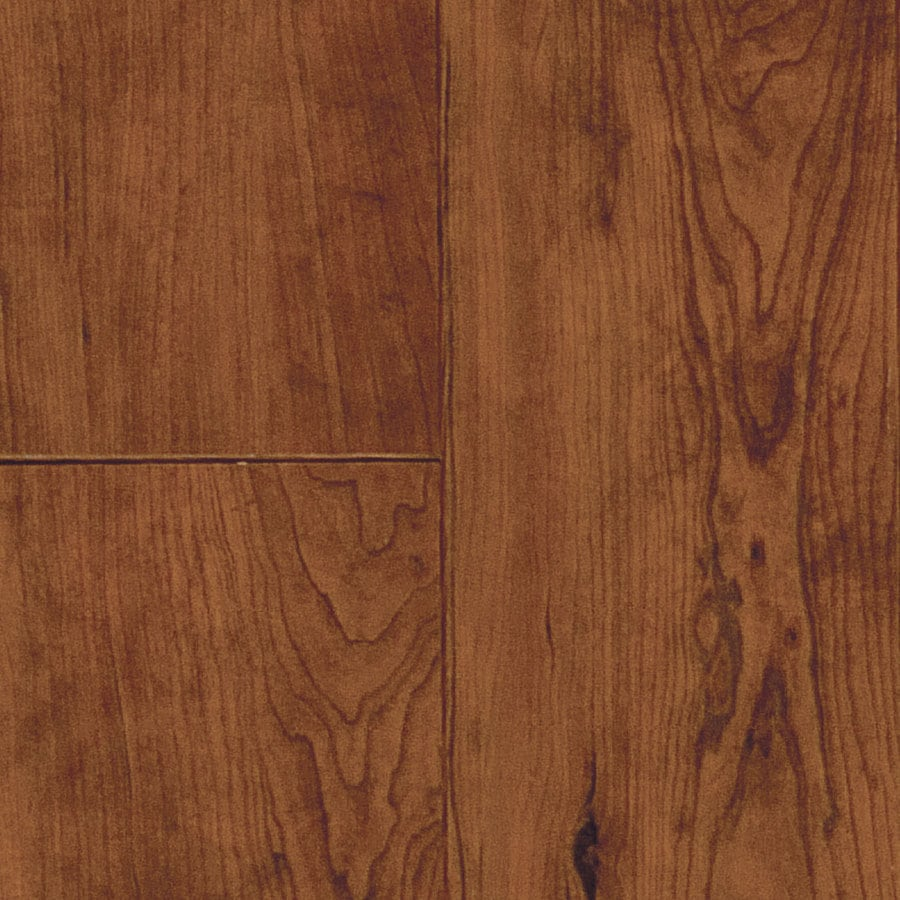 Shop swiftlock w x l rustic cherry sierra for Cherry laminate flooring