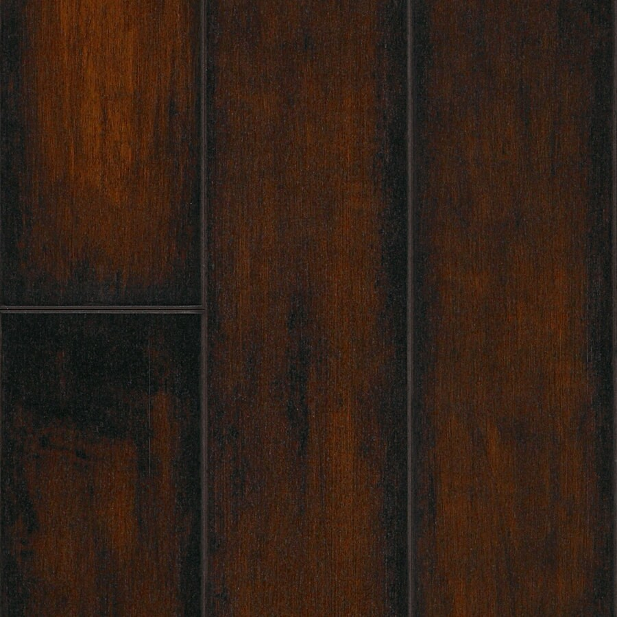 SwiftLock 5.28 In W X 4.21 Ft L Hand Hewn Maple Cocoa Wood Plank