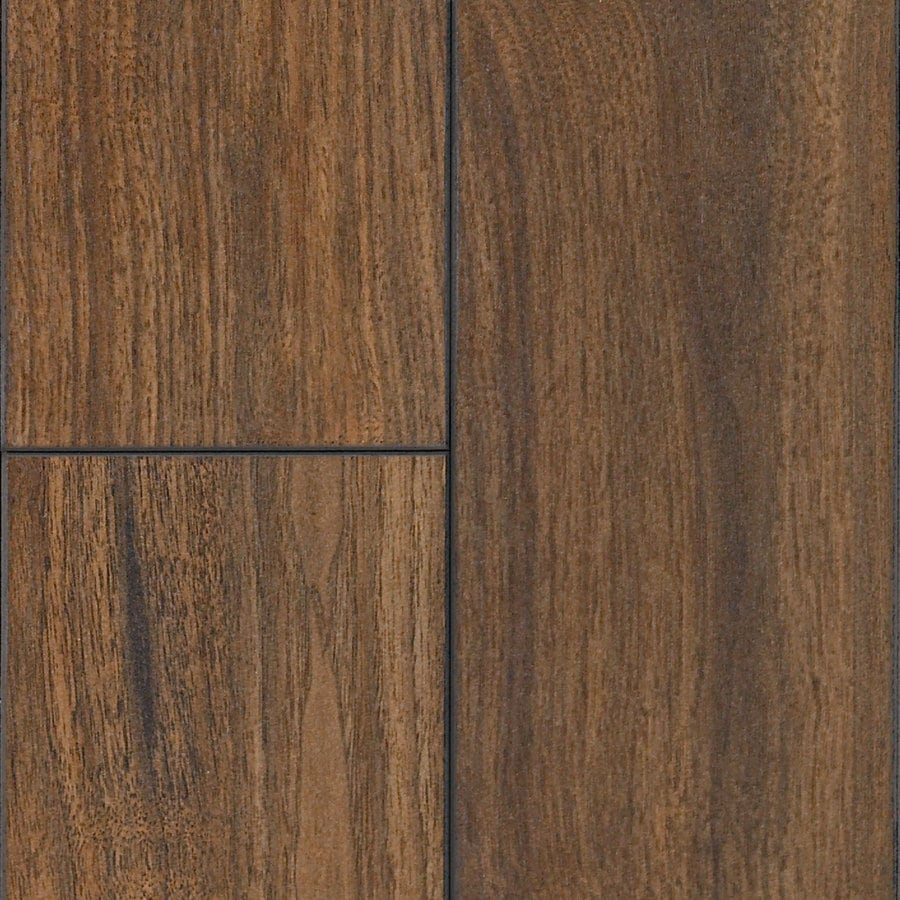 SwiftLock 5.28-in W x 4.21-ft L Hand Hewn Walnut Mocha Wood Plank Laminate Flooring