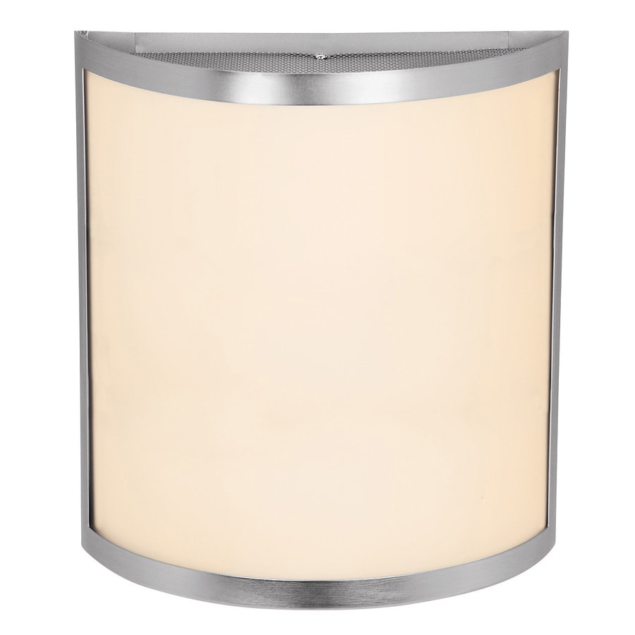 Access Lighting Artemis 10-in W 1-Light Brushed Steel Pocket Hardwired Wall Sconce