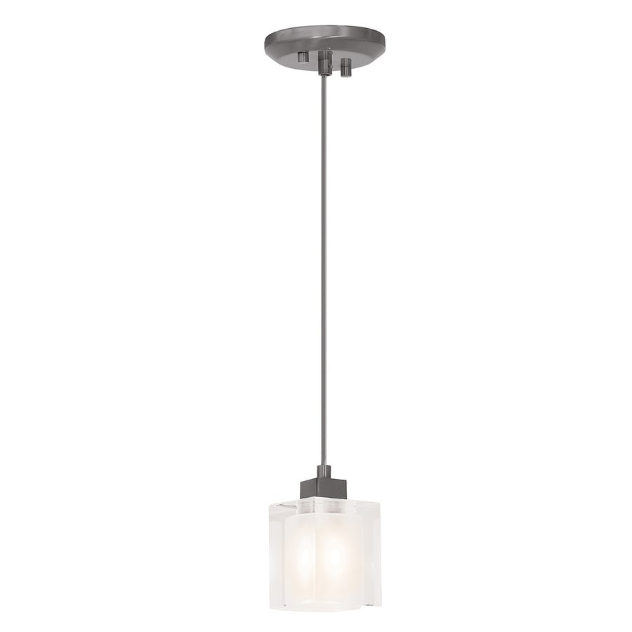 Access Lighting Astor 2.75-in Brushed Steel Mini Square Pendant