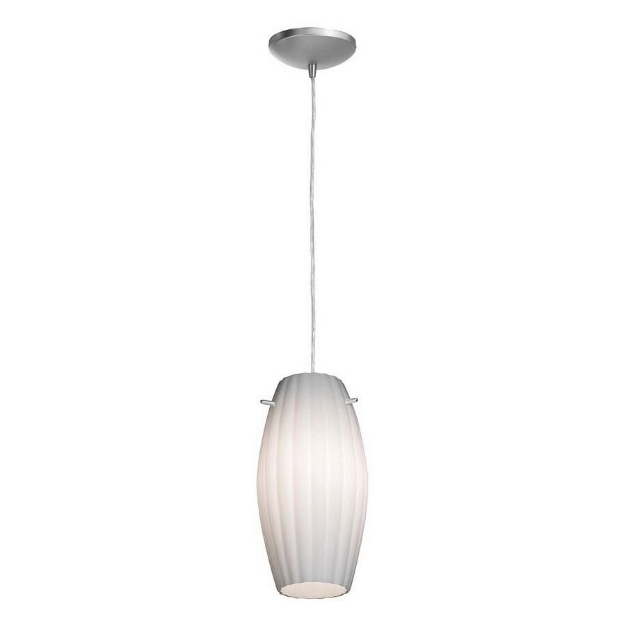 Access Lighting 11-in W Tali Fleur Brushed Steel Mini Pendant Light