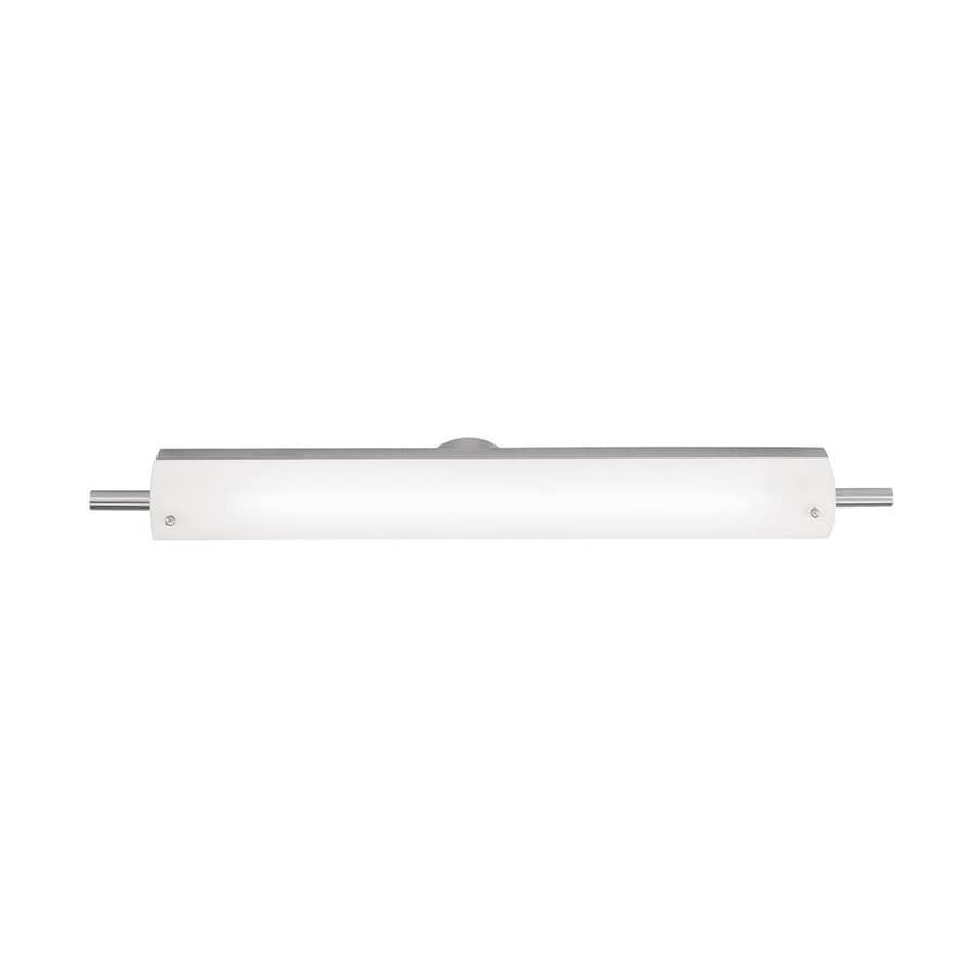 Access Lighting Vail 30.25-in W 1-Light Brushed Steel Pocket Hardwired Wall Sconce