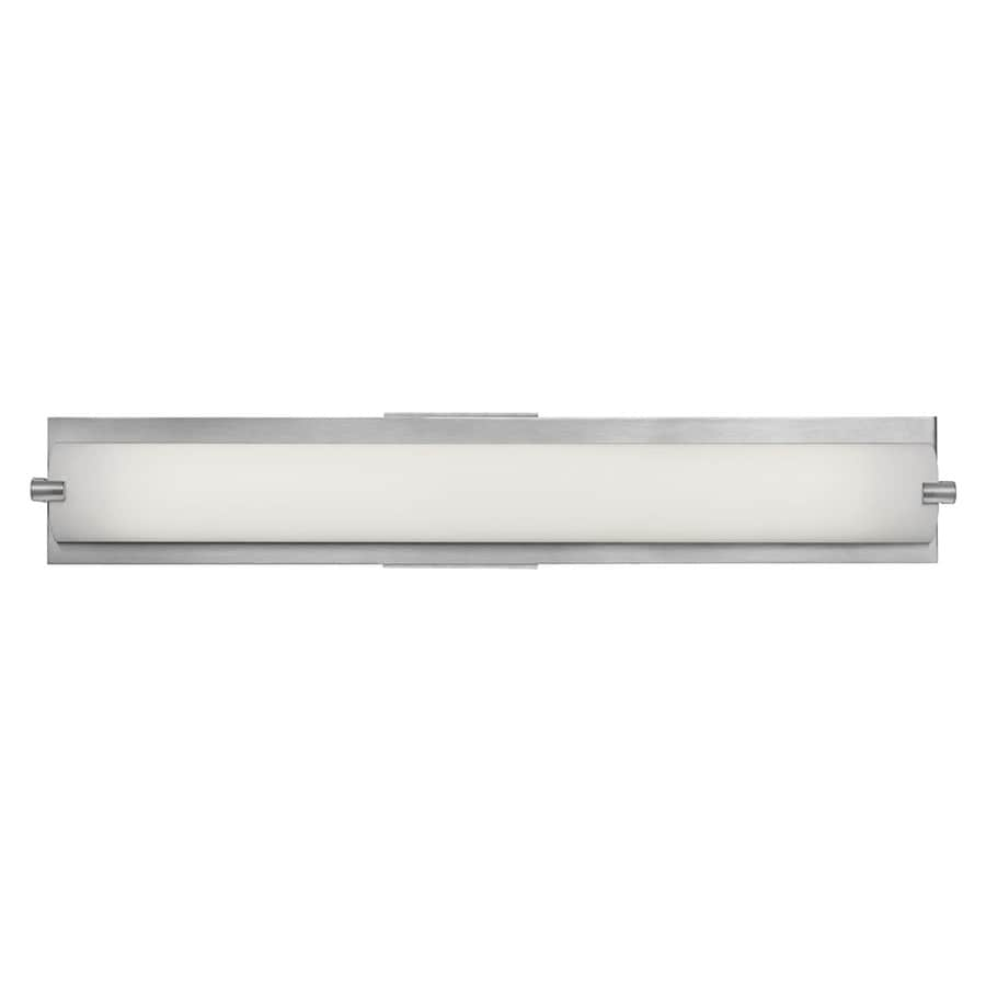 Access Lighting Geneva 24.5-in W 1-Light Brushed steel Pocket Wall Sconce