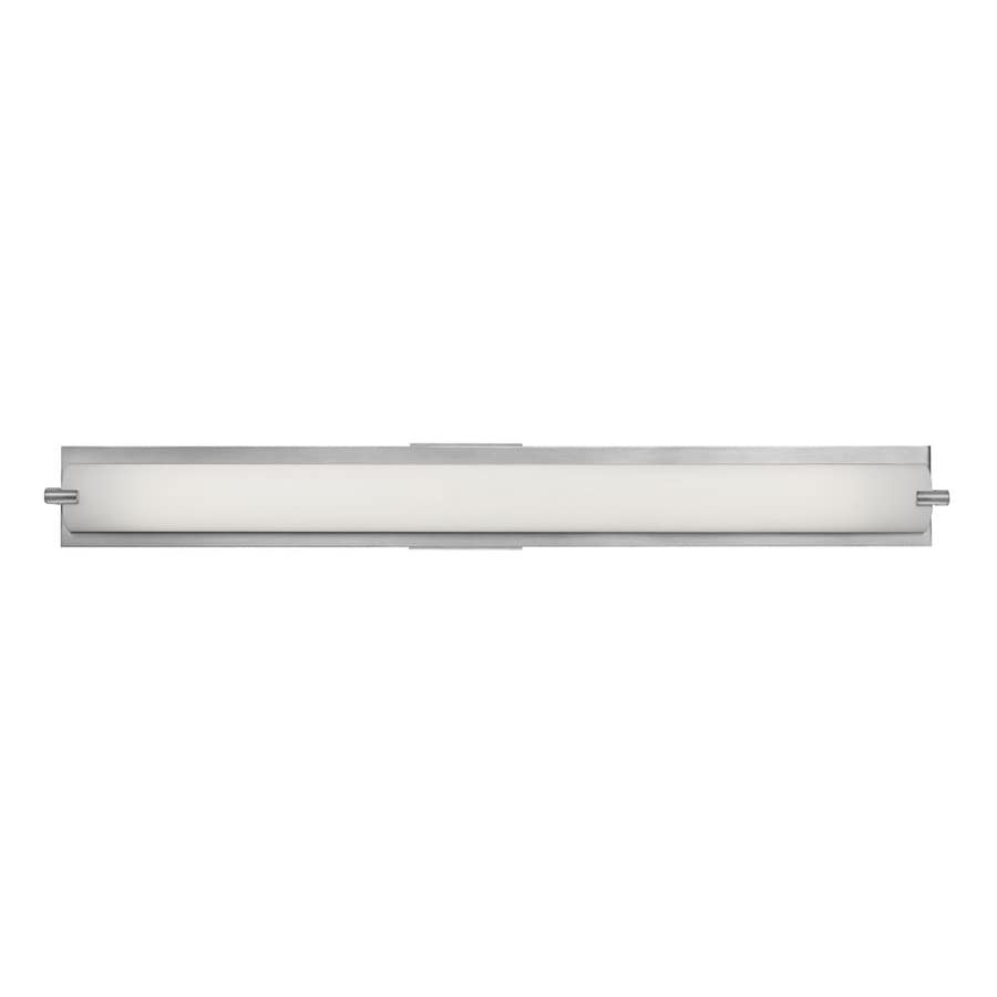 Access Lighting Geneva 36.6-in W 1-Light Brushed Steel Pocket Hardwired Wall Sconce