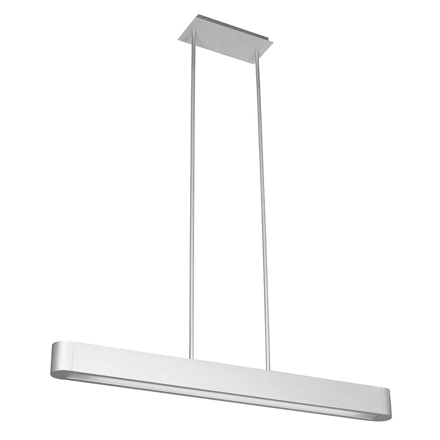 Access Lighting Indium 36.5-in W Brushed Steel Kitchen Island Light