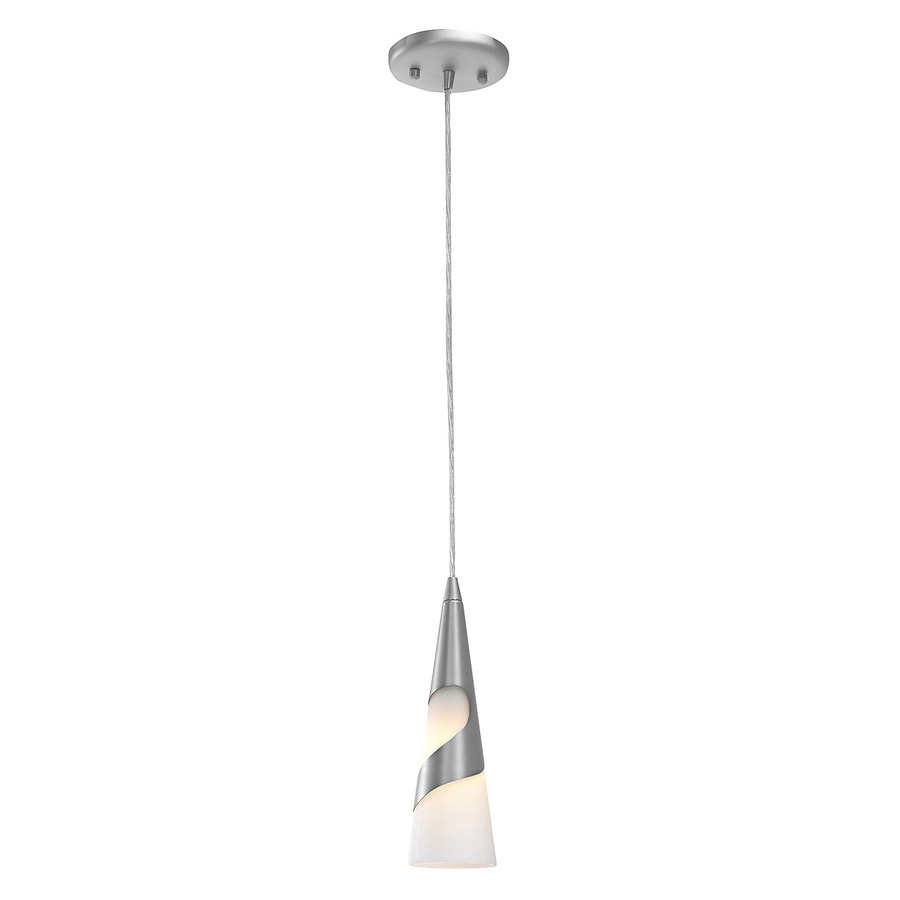 Access Lighting Onyx 3-in Brushed Steel Mini Cone Pendant