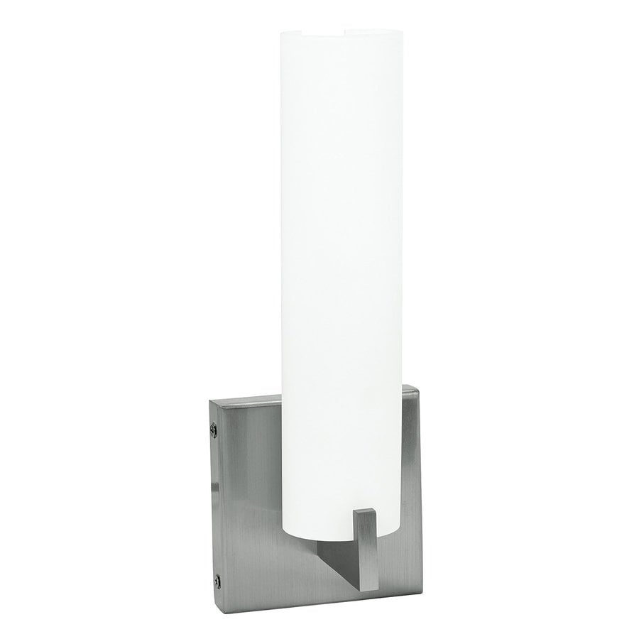Access Lighting Oracle Vanity 4.5-in W 1-Light Brushed Steel Arm Wall Sconce