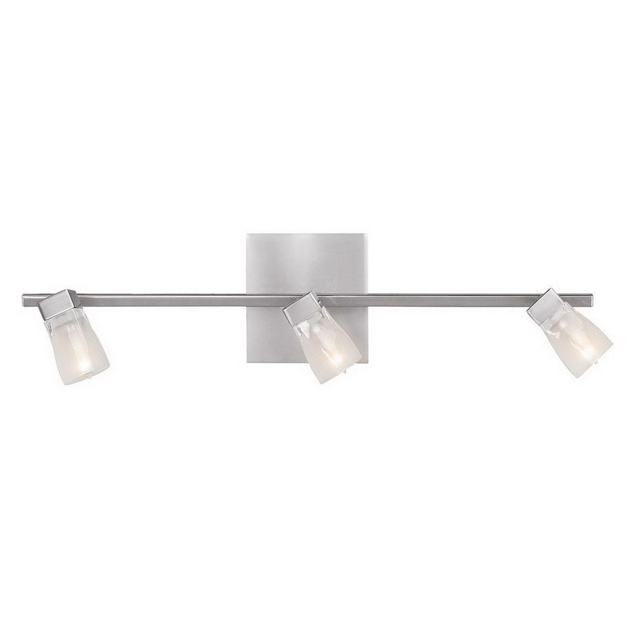 Access Lighting Ryan 3-Light 5.5-in Brushed Steel Cone Vanity Light