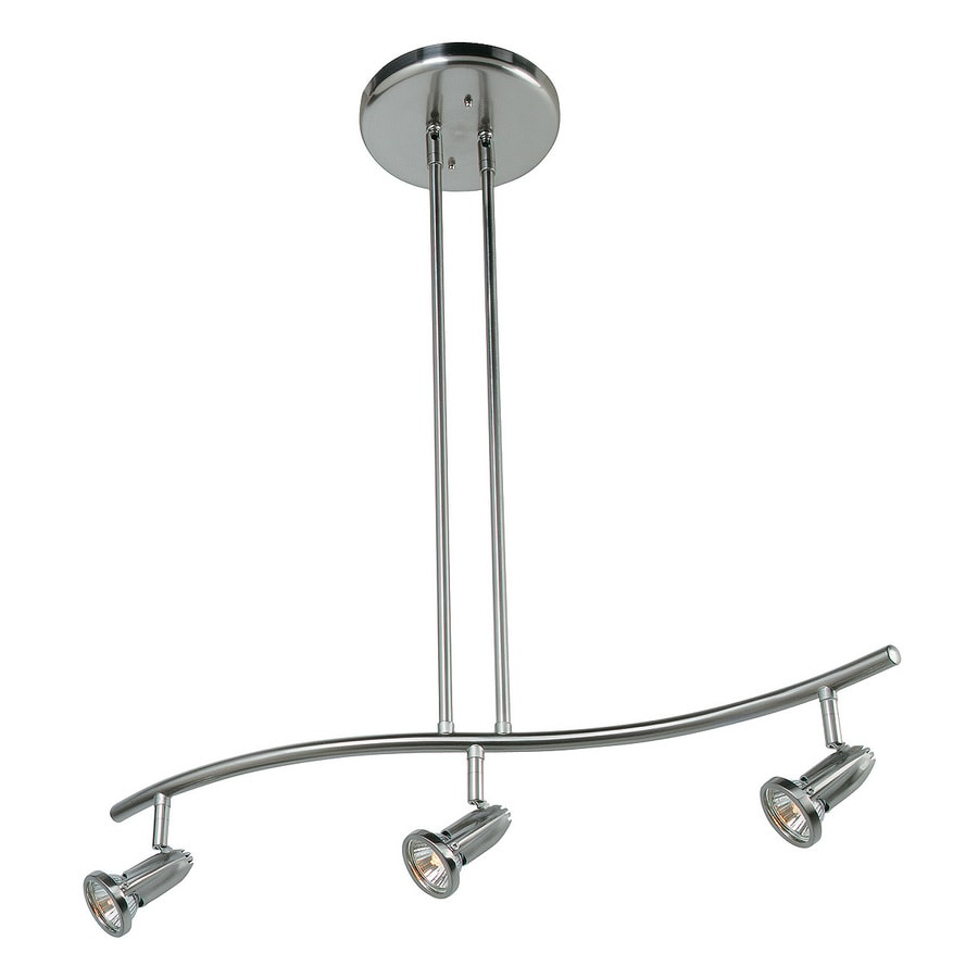 Access Lighting Cobra 27-in W 3-Light Brushed Steel Standard Kitchen Island Light with Shade