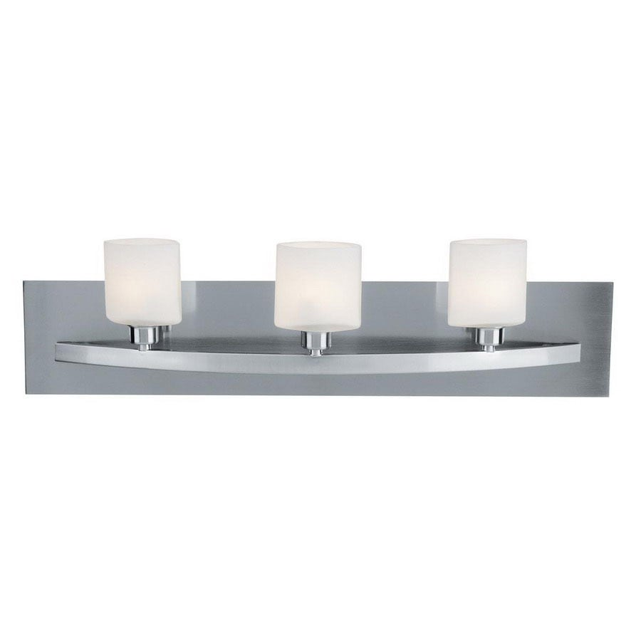 Access Lighting Cosmos 3-Light 6.75-in Brushed Steel Cylinder Vanity Light