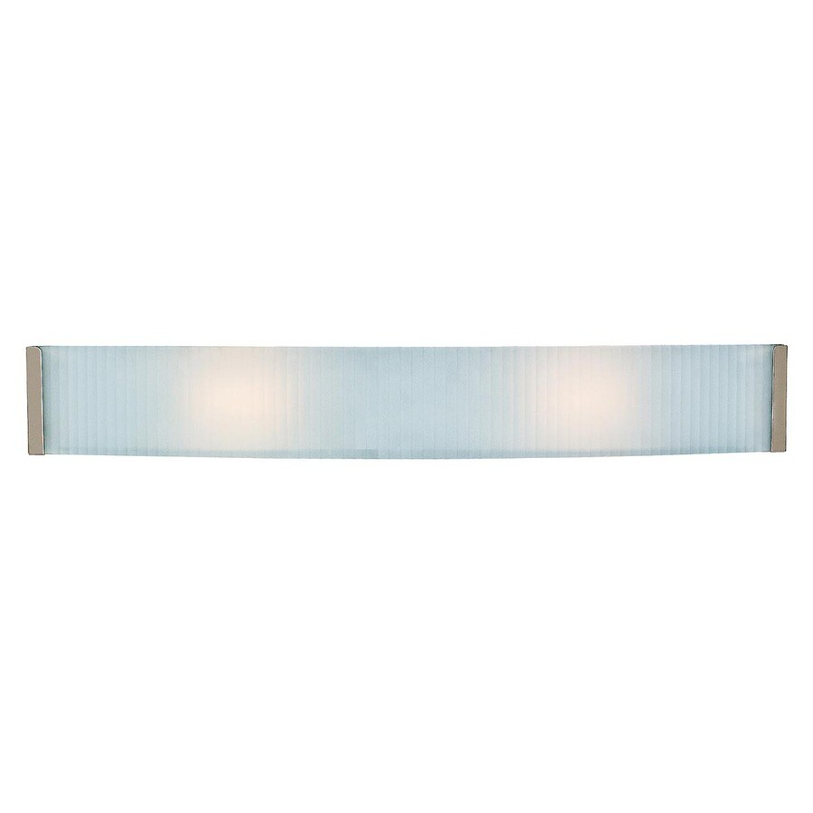 Access Lighting Helium 33.5-in W 1-Light Brushed steel Pocket Wall Sconce