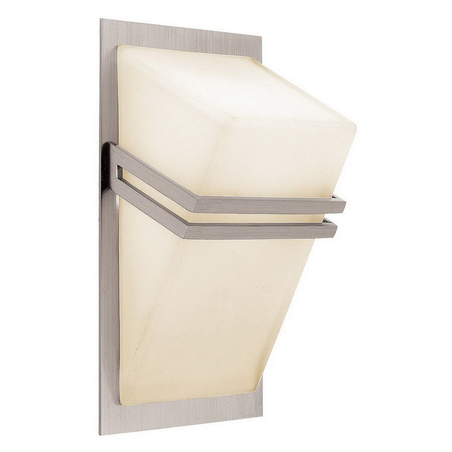 Access Lighting Titan 4.5-in W 1-Light Brushed Steel Pocket Wall Sconce