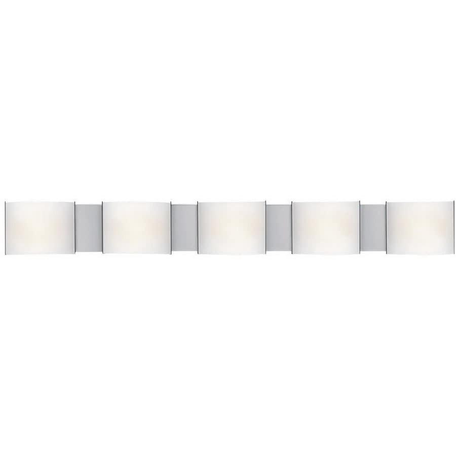 Access Lighting Nitro 5-Light 5-in Chrome Square Vanity Light Bar