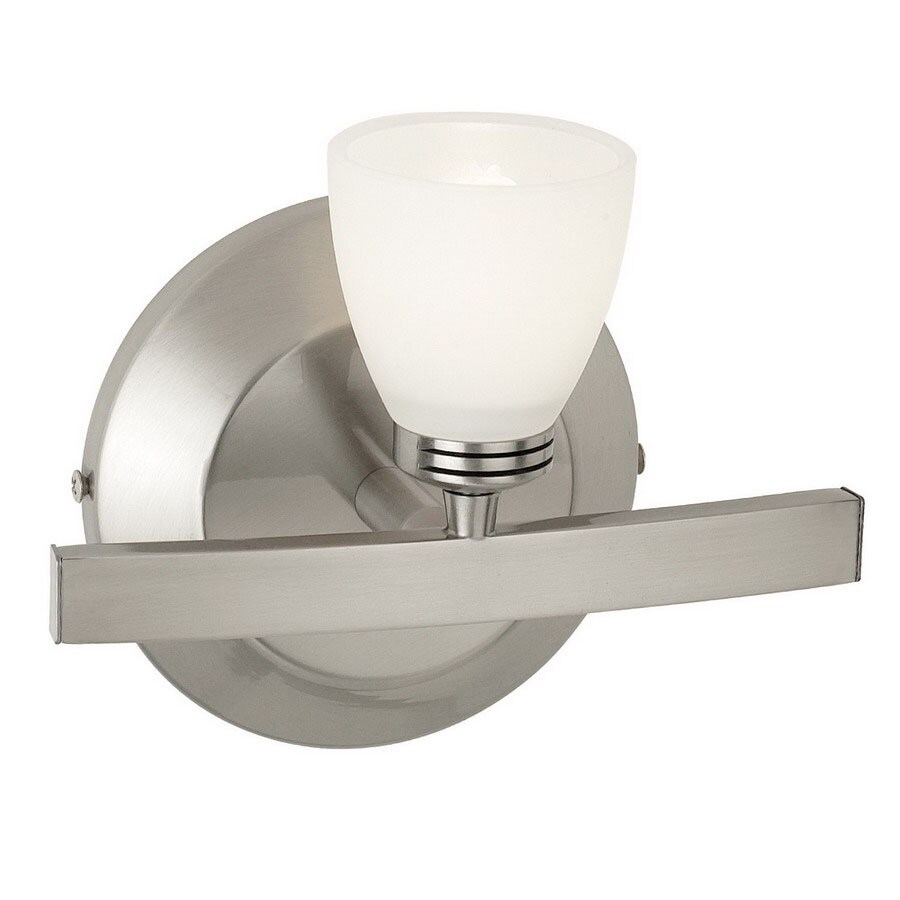 Access Lighting Classical 7.25-in W 1-Light Matte Chrome Arm Wall Sconce