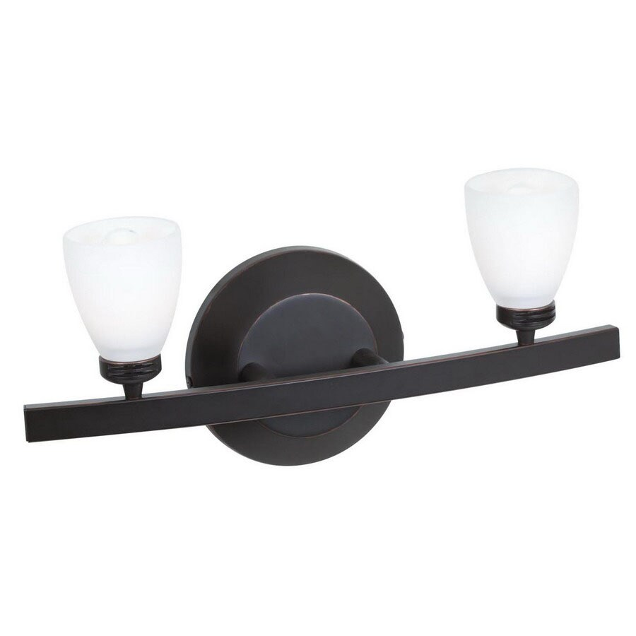Access Lighting Sydney 14-in W 2-Light Oil Rubbed Bronze Arm Wall Sconce