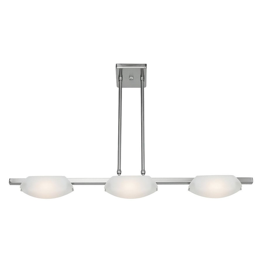 Access Lighting Nido 5-in W 3-Light Matte Chrome Kitchen Island Light with Frosted Shade