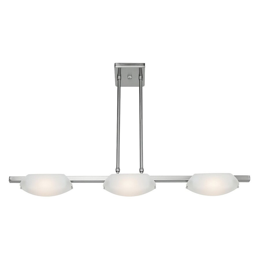 Access Lighting Nido 5-in W 3-Light Matte Chrome Kitchen Island Light with Frosted Shades